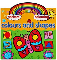 Rainbow Stickers Colouring Colours And Shapes