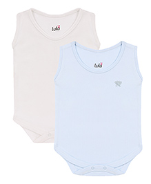 Lula Sleeveless Onesies Pack of 2 - Blue and Off White