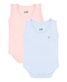 Lula Sleeveless Onesies Pack of 2 - Blue and Pink