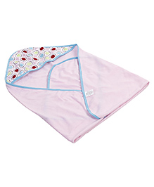 Luvable Friends Pack Of 3 Hooded Towels - Pink & Blue