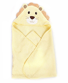 Luvable Friends Cat Shape Hooded Towel - Beige