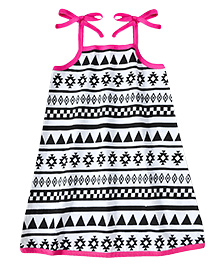 ATUN Sarah Dress Aztec Print - Pink
