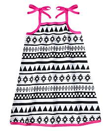 ATUN Sarah Dress Aztec Print - Pink