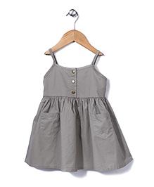 Sela Singlet Frock Two front Pockets - Grey