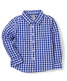 Sela Full Sleeves Checks Shirt - Blue