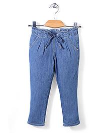 Sela Drawstring Jeans - Blue