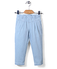 Sela Full Length Trouser - Light Blue
