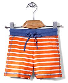Sela Shorts Stripes Pattern - Orange