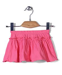 Sela Skirt Ruffle Pattern - Pink