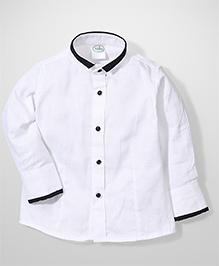 Babyhug Full Sleeves Party Wear Shirt - White