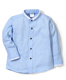Babyhug Full Sleeves Party Wear Shirt - Light Blue