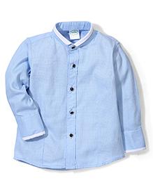 Babyhug Full Sleeves Party Wear Shirt - Light Blue