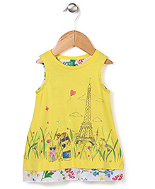 UCB Sleeveless Top Tower Print - Yellow