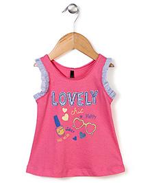 UCB Sleeveless Top Sunglass Print - Pink