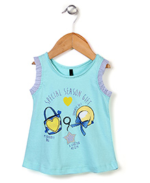 UCB Sleeveless Top Star Patch - Sea Green