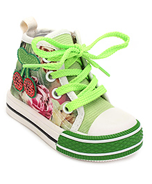 DingDingWa Printed Baby Shoes - Green