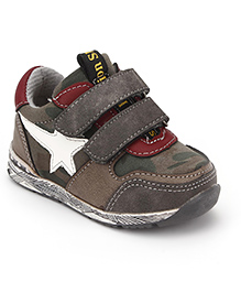 Little Paws Star Print Shoes - Grey