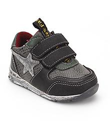 Little Paws Star Print Shoes - Black