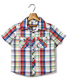 Beebay Half Sleeves Check Shirt - Multi Color