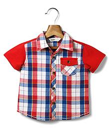 Beebay Half Sleeves Check Shirt - Red