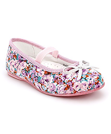 Little Paws Flower Print Sequin Belle - Pink