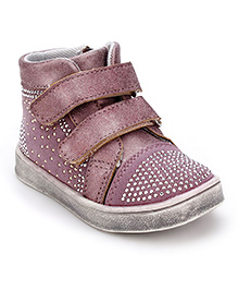 Little Paws Diamond Studded Shoes - Purple