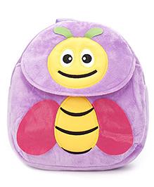 Plush Bag Bee Design Purple - 11 Inches
