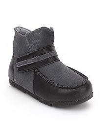 Little Paws High Ankle Boots - Grey