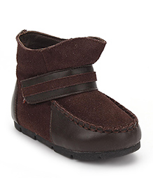 Little Paws High Ankle Boots - Brown