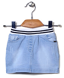 Tiny Girl Denim Skirt - Light Blue