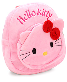 Hello Kitty Embroidery Soft Toy Bag Pink - 11 Inches