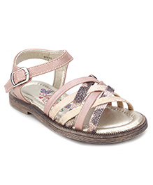 Little Paws Zig Zag Sandals - Baby Pink
