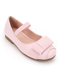 Little Paws Ballerina Shoes With Bow - Pink