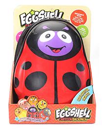 Hamleys Eggshell Cartoon School Backpack Ladybug - Red