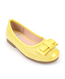 Little Paws Ballerina Shoes With Bow - Yellow
