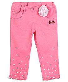 Barbie Capri Hearts Embroidery - Pink
