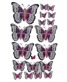 Happykids 3D Stickers Butterflies - Pink And Purple