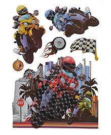 Happykids 3D Wall Stickers - Bikes