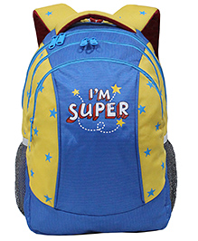 Star Gear Super Backpack Blue And Yellow - 16 Inches