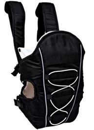 Fab N Funky 2 Way Baby Carrier Kangaroo Bag with Raincoat - Black