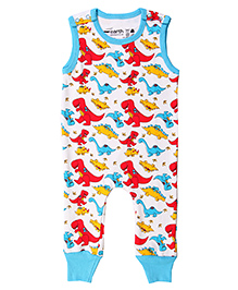 Earth Conscious Sleeveless Romper Dinosaur Print - Multi Color