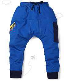 Flight Deck by Babyhug Parachute Pants Star Embroidery - Blue