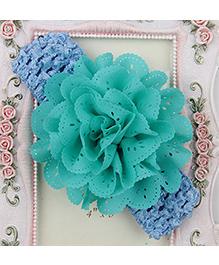 Pikaboo Headband Floral Applique - Sea Green