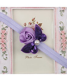 Pikaboo Headband Sequin Bow Applique - Light Purple