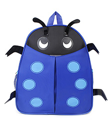 Beetle Shaped School Backpack Blue - 13 Inches