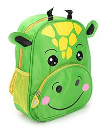 Hippo Designed School Bag Green - 12 Inches