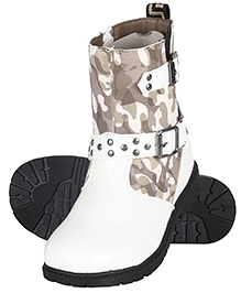 Cutecumber Ankle Length Partywear Boots - White