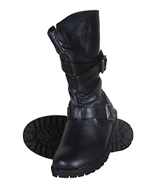 Cutecumber High Ankle Length Partywear Boots - Black