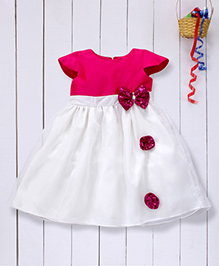 Pspeaches Pretty Party Dress With Bow - White