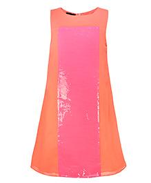 Pspeaches Elegant Party Dress - Orange